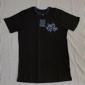 Louis Vuitton Men's Black Cotton T'shirt Small